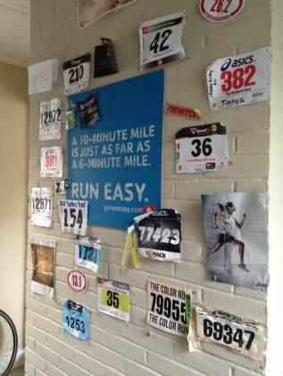 running, race bibs