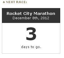Taper tantrum, marathon, running, racing, Huntsville, Rocket City Marathon