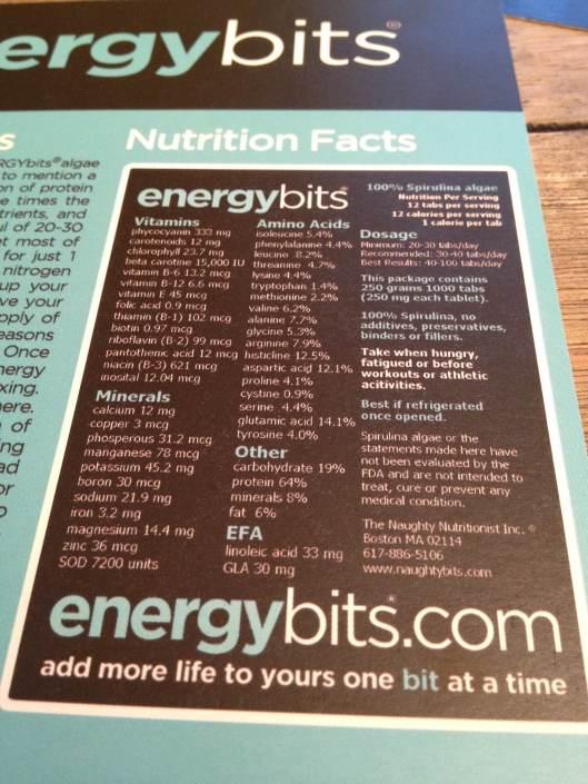 Energy Bits, algae, spirulina, running, nutrition