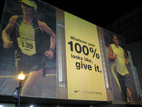 Another ad I love - back when Livestrong wasn't a tarnished brand