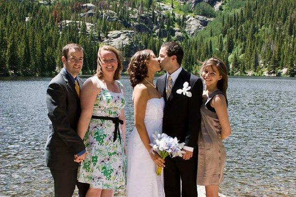 wedding, anniversary, elope, Rocky Mountain National Park, Colorado, hiking, outdoor wedding, Bear Lake