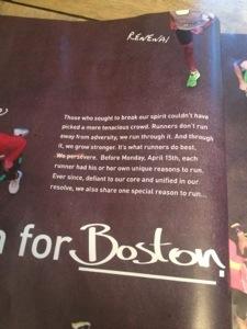 Dick's Sporting Goods, Hurricane Sandy, Boston Marathon bombing, advertisements, magazine ads, Runner's World