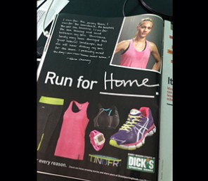 Dick's Sporting Goods, Hurricane Sandy, Boston Marathon bombing, advertisements, magazine ads, Runner's World