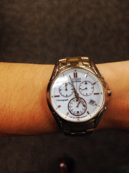 Citizen Eco-Drive Sport Chronograph Stainless, watch review, fashion, Watchco, gold watch, fall fashion